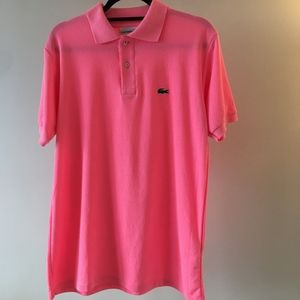 Lacoste Men's Polo Classic Fit. Size 7 XL Hot Pink